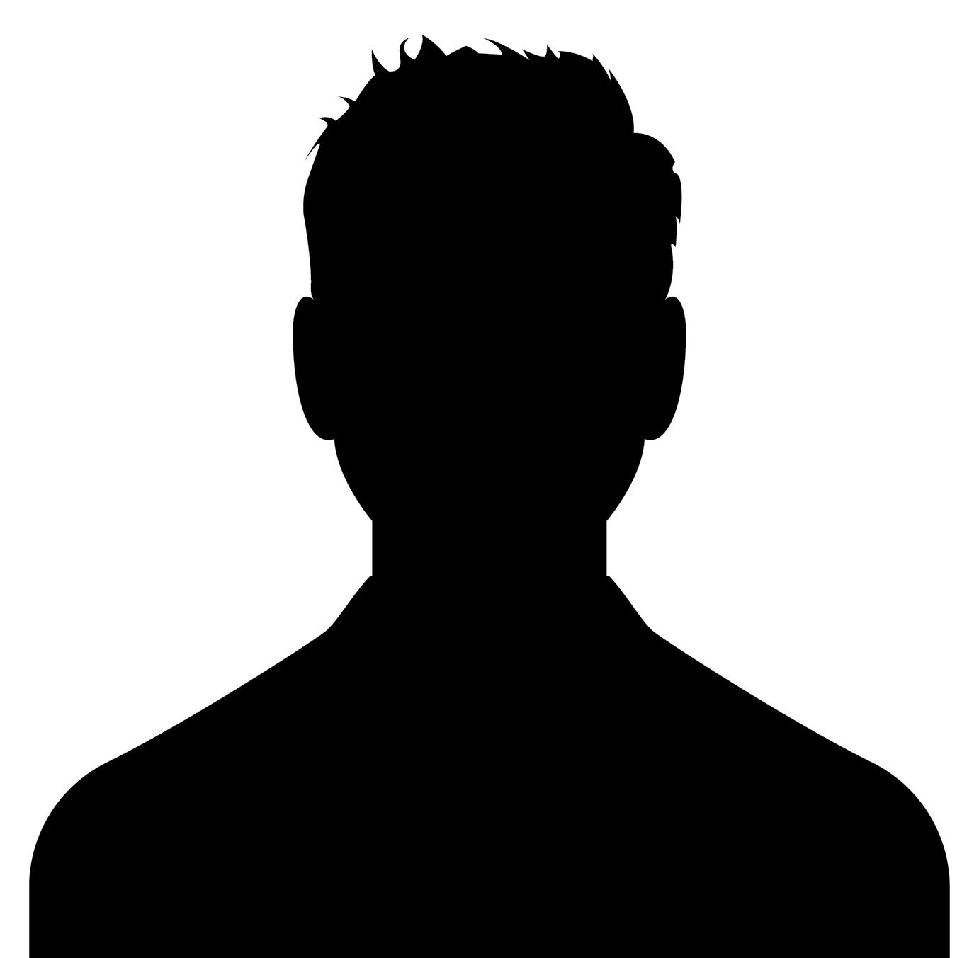 Male head silhouettes avatar