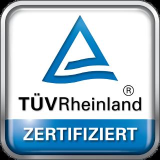 TÜV Rheinland zertifiert