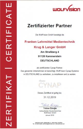 zertifizierter CYNAP Wolfvision Partner
